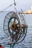 渔船起网机 免版税库存照片