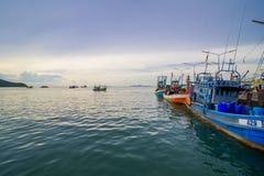 渔船钓鱼 图库摄影