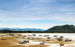 渔船队休息 免版税图库摄影