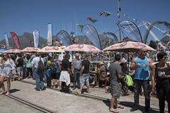 渔船队每年节日开普敦祝福  库存照片