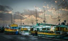 渔船队 免版税库存图片