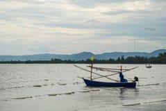 渔船,华欣, Prachuap Khiri Khan,泰国 免版税库存照片
