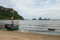 渔船,华欣, Prachuap Khiri Khan,泰国 库存照片