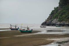 渔船,华欣, Prachuap Khiri Khan,泰国 库存图片