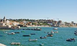 渔船,卡斯卡伊斯,葡萄牙 图库摄影