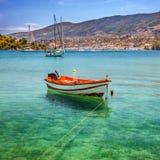 渔船,希腊 免版税库存照片