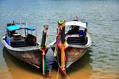 渔船, Krabi -泰国 库存图片