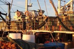 渔船货物 库存图片