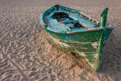 渔船细节特写镜头  免版税库存图片