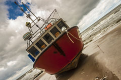 渔船- Rewal波兰。 免版税库存照片
