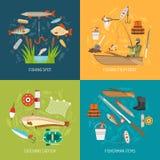 渔被设置的概念象 免版税图库摄影