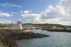 渔镇美好的风景在爱尔兰 免版税库存照片