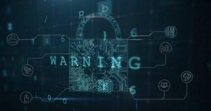渗入网络安全锁4k 库存例证