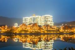 渠坝- 2015年3月26日:3月的渠坝Rixos旅馆 免版税图库摄影