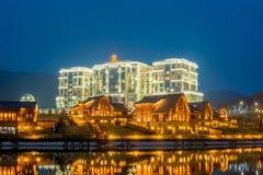 渠坝- 2015年3月26日:3月的渠坝Rixos旅馆 免版税库存照片