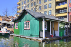 渠道在城市哥本哈根 库存图片