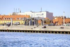渠道在城市哥本哈根 免版税库存图片