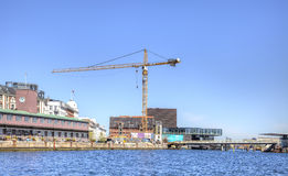 渠道在城市哥本哈根 库存照片