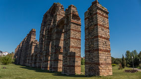 渡槽的archs在梅里达 免版税库存图片