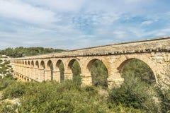渡槽罗马西班牙塔拉贡纳 免版税库存图片