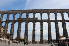 渡槽罗马segovia西班牙 免版税图库摄影