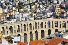渡槽,卡瓦拉,希腊 免版税库存照片