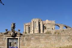 渡槽,孔迪镇,杜罗河地区,北葡萄牙 免版税库存照片