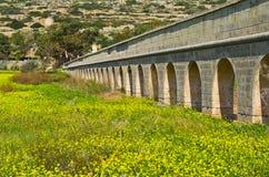渡槽,马耳他戈佐岛 免版税图库摄影