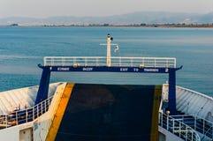 渡轮到Thassos海岛 库存照片
