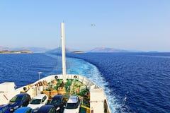渡轮爱奥尼亚海希腊 免版税库存照片
