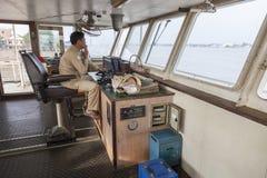 渡轮的上尉 免版税库存图片