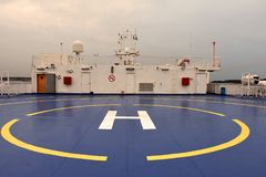 渡轮直升机着陆架 库存照片