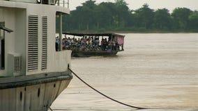 渡轮,巡航,湄公河,柬埔寨,东南 影视素材