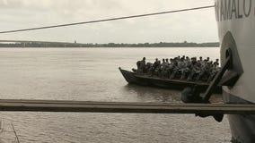 渡轮,巡航,湄公河,柬埔寨,东南 股票视频