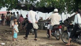 渡轮,湄公河,柬埔寨,东南亚 影视素材