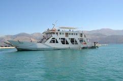 渡轮Kefalonia海岛 库存图片