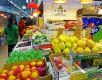 渣华道市场在北角,香港 免版税图库摄影