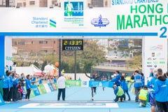 渣打香港马拉松2018年 图库摄影