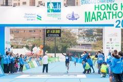 渣打香港马拉松2018年 库存照片