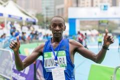 渣打香港马拉松2018年 免版税库存图片