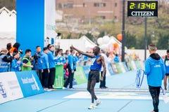 渣打香港马拉松2018年 免版税图库摄影
