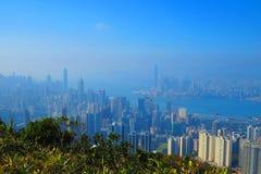 从渣甸山,香港的看法 图库摄影