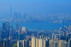 从渣甸山,香港的看法 免版税库存图片