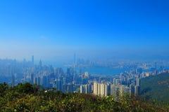 从渣甸山,香港的看法 免版税库存照片