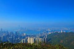 从渣甸山,香港的看法 免版税图库摄影