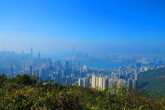 从渣甸山,香港的看法 库存图片