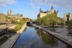渥太华丽都运河 库存图片