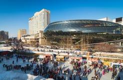 渥太华市Skateway 库存图片