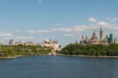 渥太华是资本和第四大市加拿大 免版税库存图片