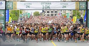 渥太华种族周末 免版税库存图片
